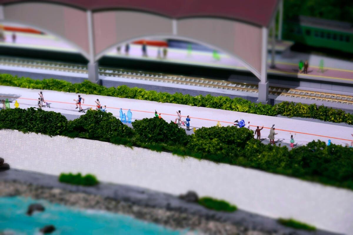 箱根駅伝のジオラマ