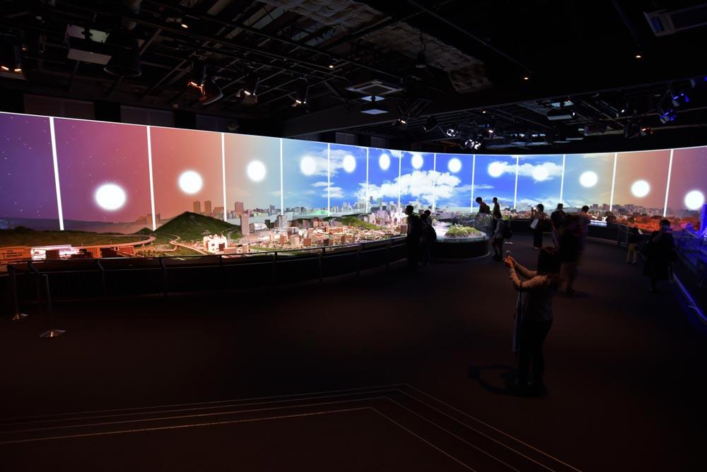 ジオラマ展示の様子