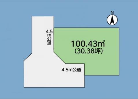 海老名駅へほぼ一本道!建物のレイアウトも容易な地形をしております。